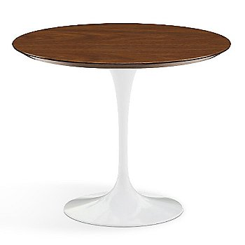 Shown in Light Walnut Veneer Top with White Base, 36 Inch