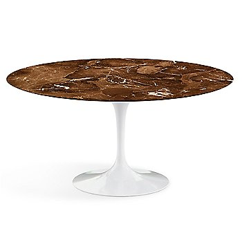 Shown in Espresso Brown Satin Coated Marble Top wih Black Base, 60 Inch