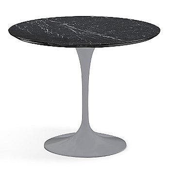 Nero Marquina Black Shiny Coated Marble finish with Platinum Base / 36 Inch