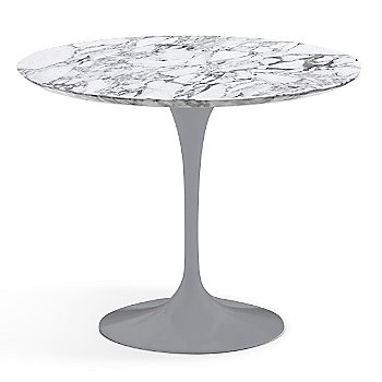 Arabescato White-Grey Satin Coated Marble finish with Platinum Base / 36 Inch
