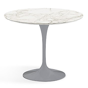 Calacatta White-Grey Beige Satin Coated Marble finish with Platinum Base / 36 Inch