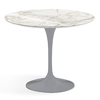 Calacatta White-Grey Beige Shiny Coated Marble finish with Platinum Base / 36 Inch