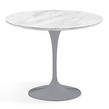 Carrara White-Grey Satin Coated Marble finish with Platinum Base / 36 Inch