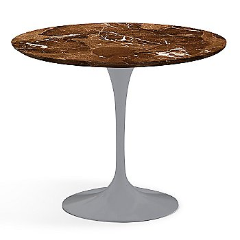 Espresso Brown Satin Coated Marble finish with Platinum Base / 36 Inch
