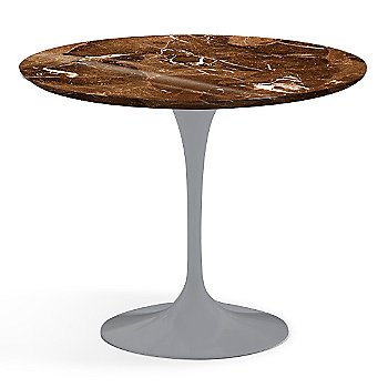 Espresso Brown Shiny Coated Marble finish with Platinum Base / 36 Inch