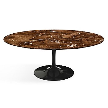 Shown in Espresso Brown Satin Coated Marble top finish with Black base