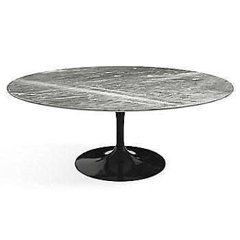 Shown in Calacatta White-Grey-Beige Shiny Coated Marble top finish with Black base