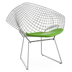 Diamond Lounge Chair with Seat Cushion