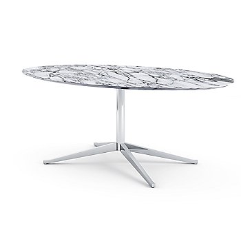Shown in White Laminate top with Polished Chrome base finish, 78-Inch