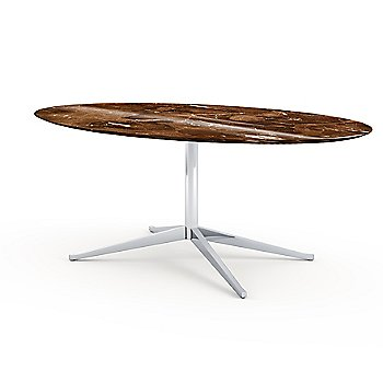 Shown in Espresso Brown Coated Marble top, 78-Inch