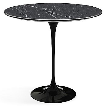 Shown in Nero Marquina Black Shiny Coated Marble top with Black base