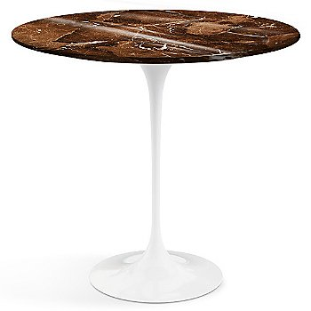 Espresso Brown Shiny Coated Marble top with White base