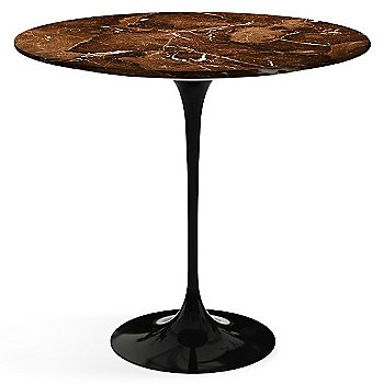 Espresso Brown Satin Coated Marble top with Black base