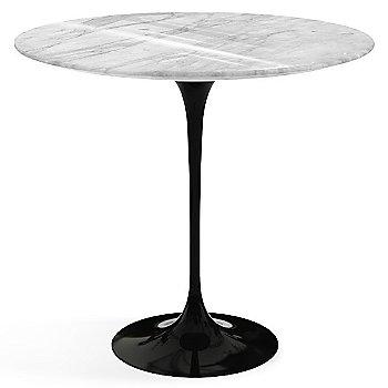 Carrara White Grey Shiny Coated Marble top with Black base