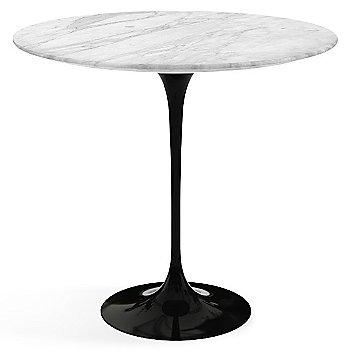 Carrara White Grey Satin Coated Marble top wih Black base