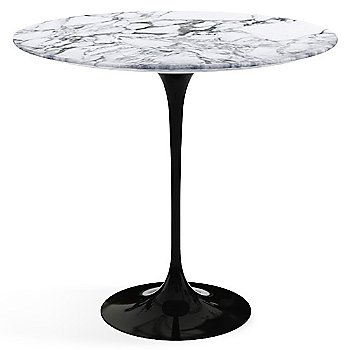 Arabescato White Grey Satin Coated Marble top with Black base