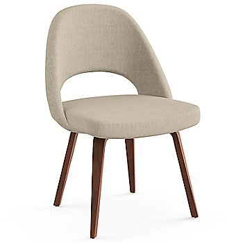 Shown in Classic Boucle: Neutral Fabric Color, Light Walnut Leg Finish