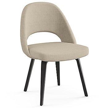 Shown in Classic Boucle: Neutral Fabric Color, Ebonized Walnut Leg Finish