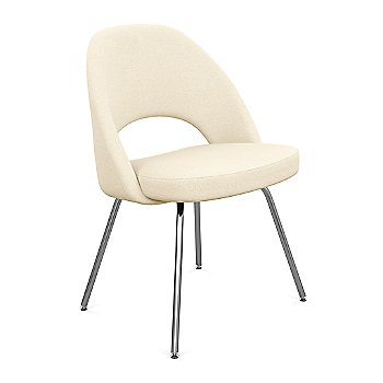Shown in Classic Boucle: Pumpernickel Fabric Color, Polished Chrome Finish