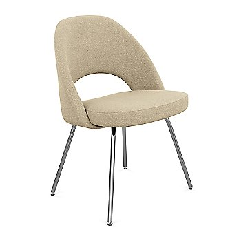 Shown in Classic Boucle: Aegean Fabric Color, Polished Chrome Finish