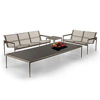 Bronze fabric / Warm Wood frame / Sand trim, in use