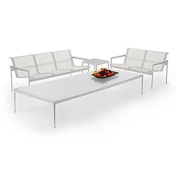 White fabric / White frame / White trim, in use
