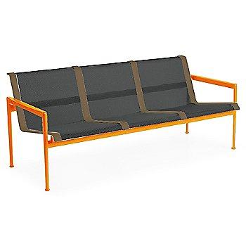 Onyx Fabric / Orange Frame / Bronze Trim