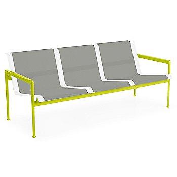 Aluminum Fabric / Lime Green Frame / White Trim