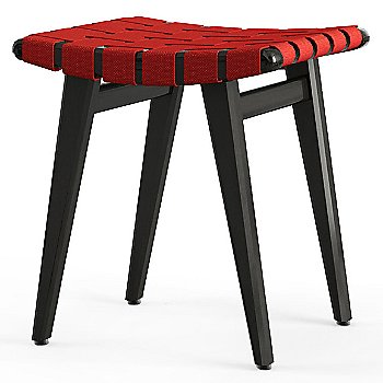 Shown in Red Cotton Webbing material with Ebonized Maple frame finish