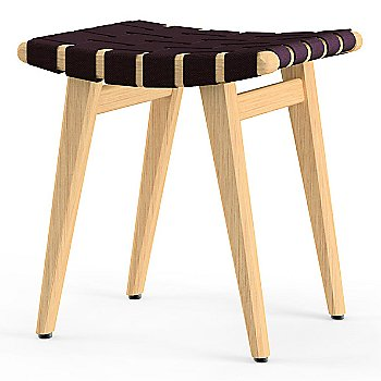 Shown in Aubergine Cotton Webbing material with Clear Maple frame finish