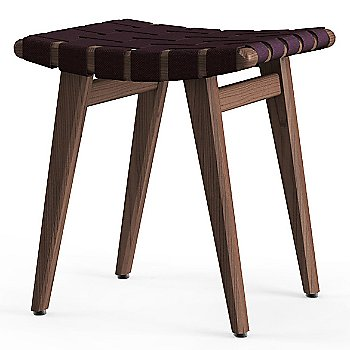 Shown in Aubergine Cotton Webbing material with Light Walnut frame finish