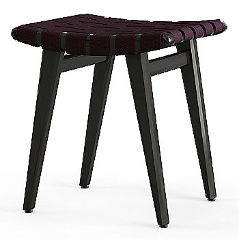 Shown in Aubergine Cotton Webbing material with Ebonized Maple frame finish