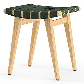 Shown in Forest Green Cotton Webbing material with Clear Maple frame finish