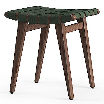 Shown in Forest Green Cotton Webbing material with Light Walnut frame finish