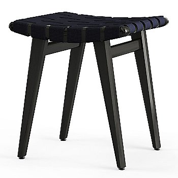 Shown in Navy Cotton Webbing material with Ebonized Maple frame finish
