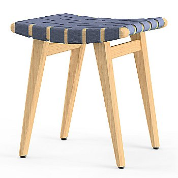 Shown in Steel Blue Cotton Webbing material with Clear Maple frame finish