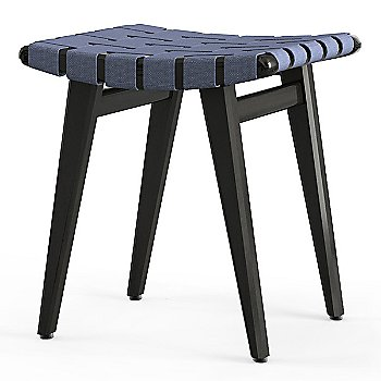 Shown in Steel Blue Cotton Webbing material with Ebonized Maple frame finish