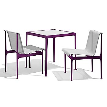 Shown in White with Plum frame