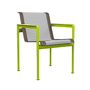 White with Lime Green frame