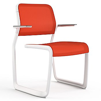 Orange fabric / Warm White frame