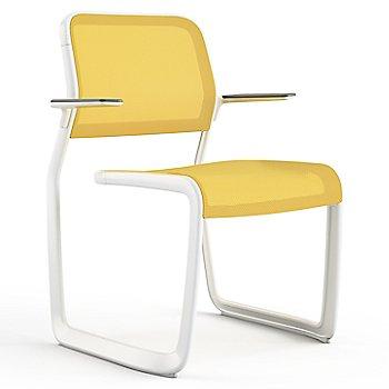 Yellow fabric / Warm White frame