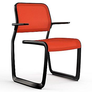 Orange fabric / Black frame