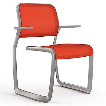Orange fabric / Metalic Silver frame