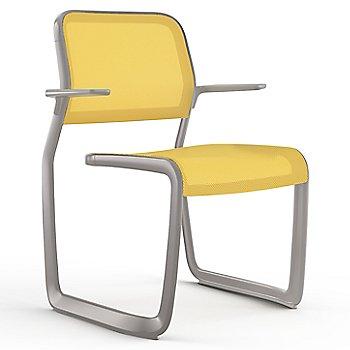 Yellow fabric / Metalic Silver frame