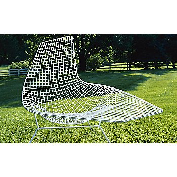 Bertoia Asymmetric Chaise, Unupholstered / Rear view