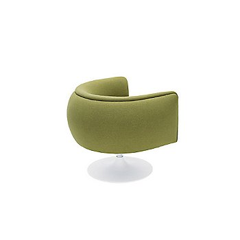 Rear view, Knoll Hopsack: Lime / White base