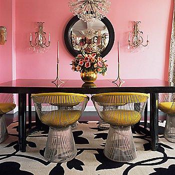 In bright dining room