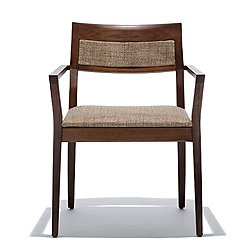 Krusin Armchair with Upholstered Back Inset