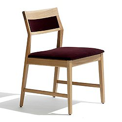 Krusin Side Chair with Upholstered Back Inset