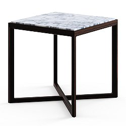 Krusin Square Side Table with Marble Table Top